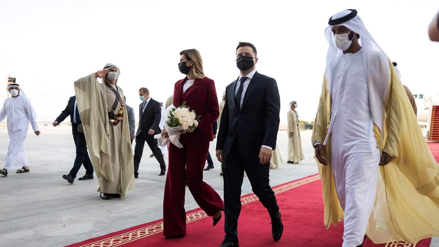 Олена Зеленська з чоловіком в ОАЕ