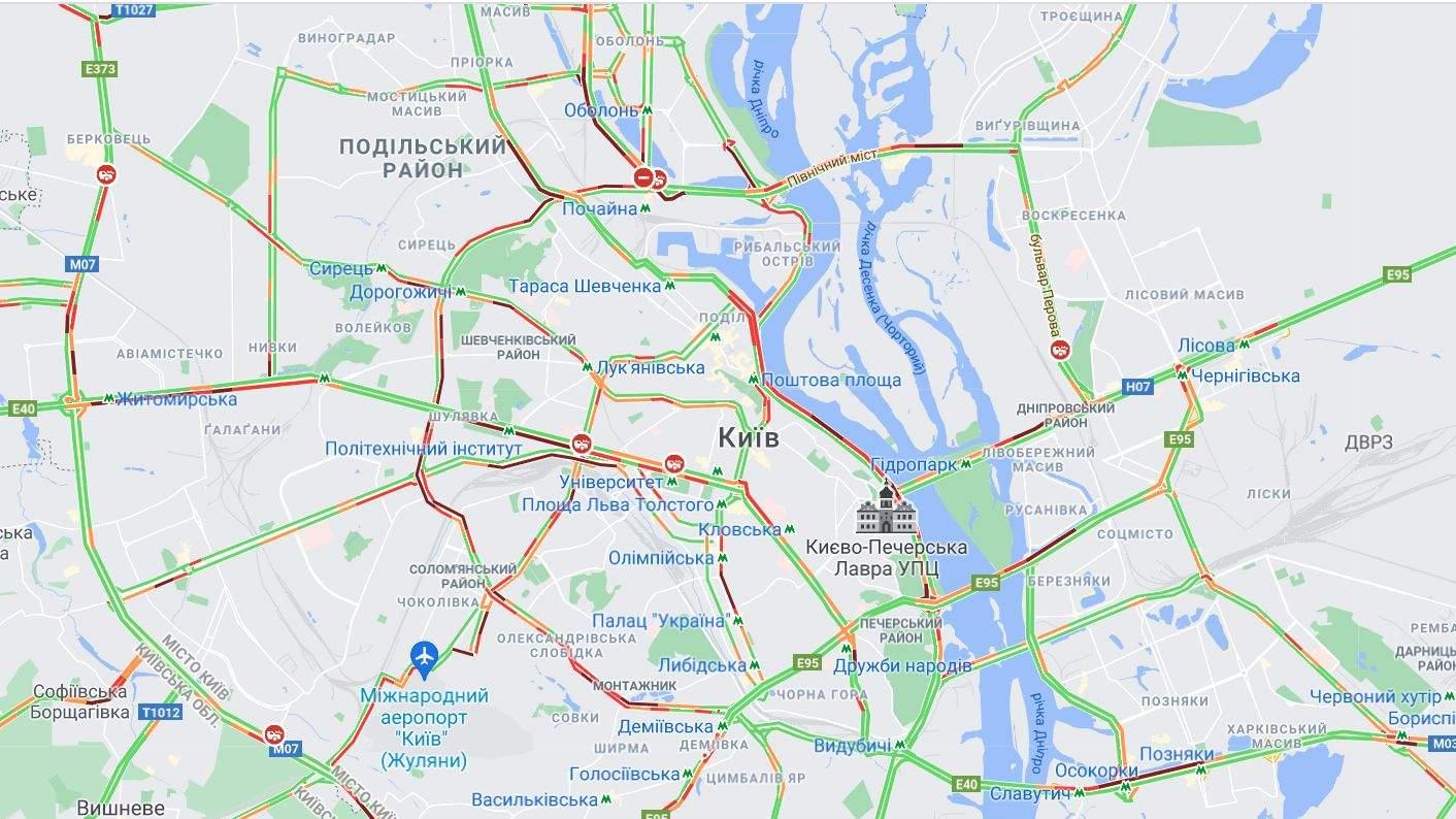 затори в Києві 7 червня