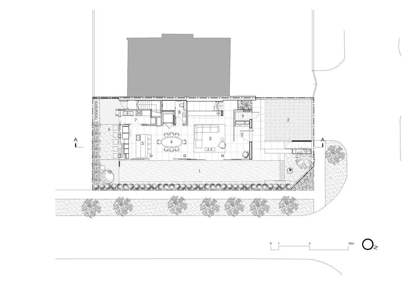 Архітектурний план котеджу в Сінгапурі / Фото Archdaily