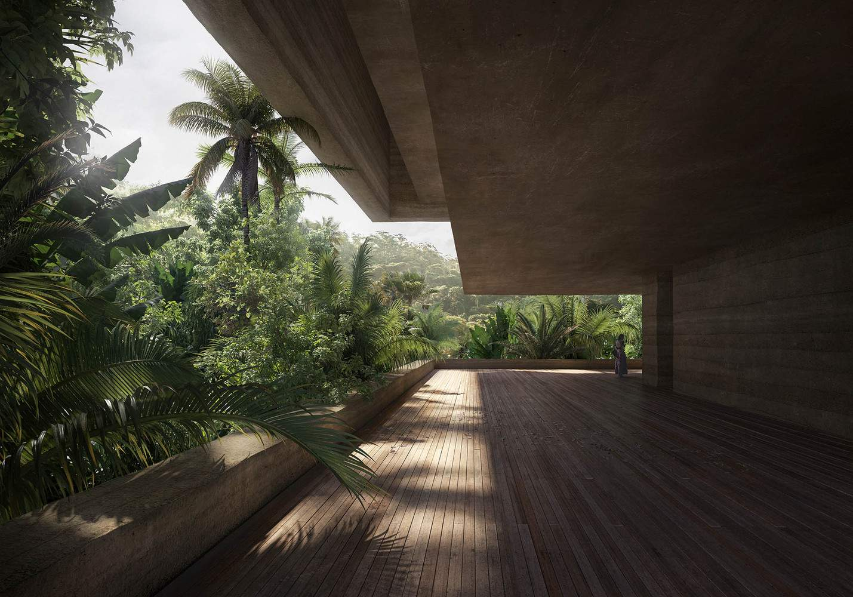 Музей розташований на місці незаконно вирубаного лісу / Фото Designboom
