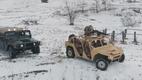 Тест-драйв от Нацгвардии: новый украинский внедорожник против армейского Хаммера