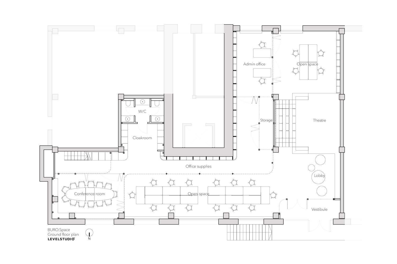 Архітектрутний план приміщення / Фото Archdaily
