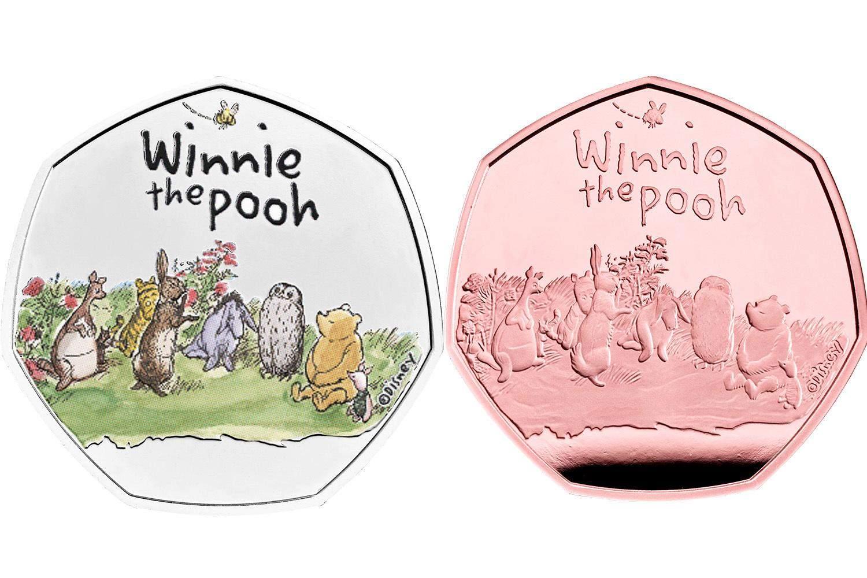 Монети з Вінні-Пухом