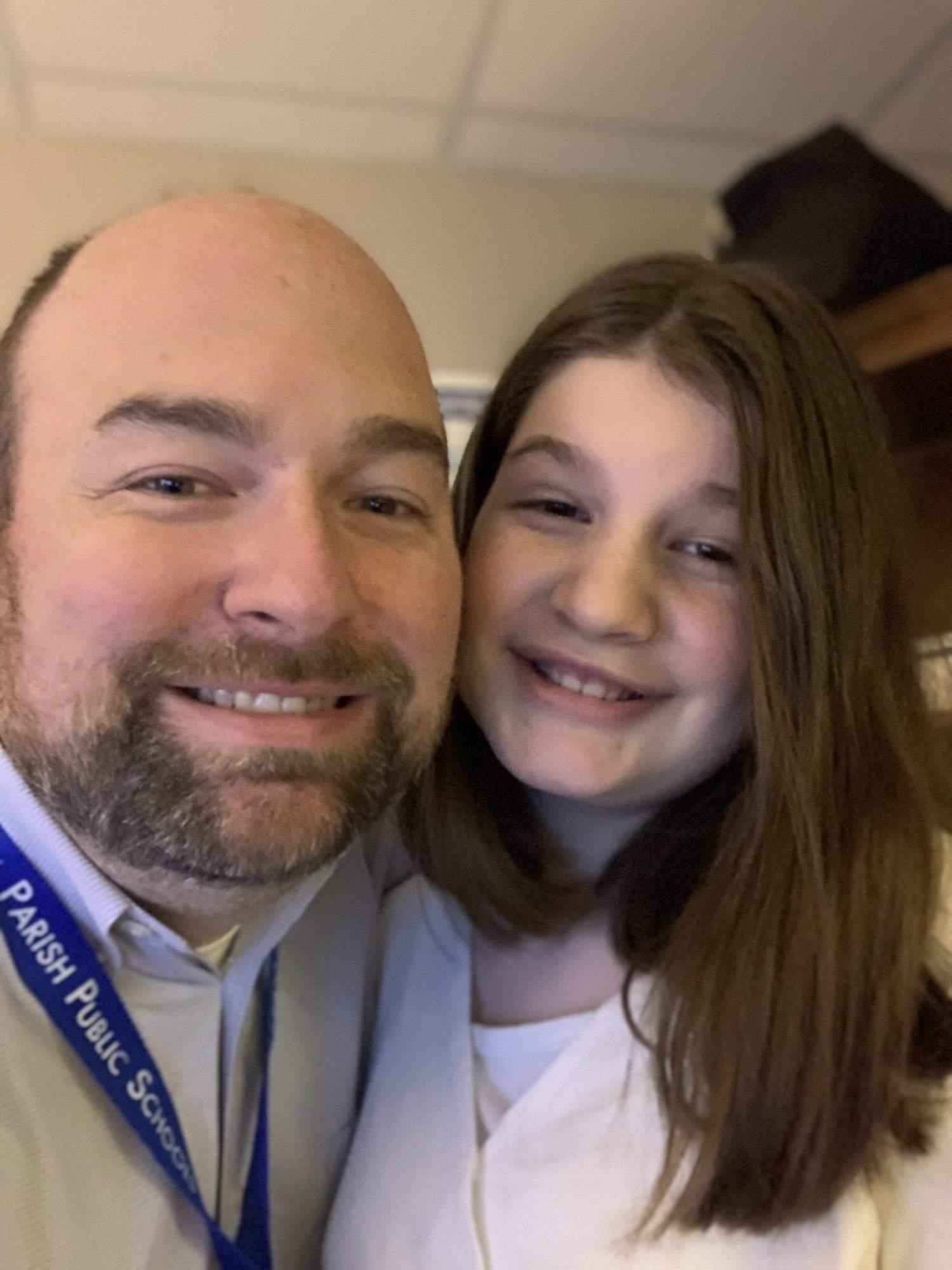 Крис Яндл и его дочь Эдисон