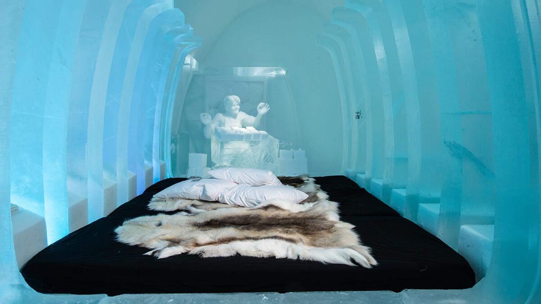 льодяний готель швеція