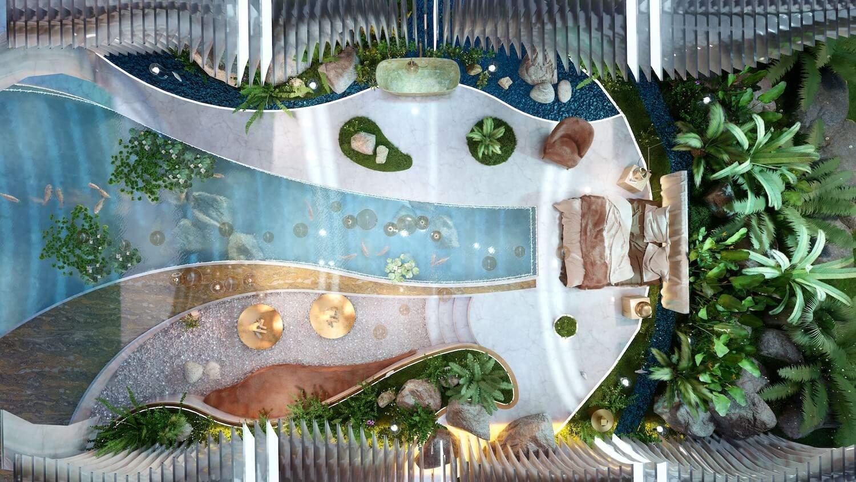 Коралова сальня: вид зверху