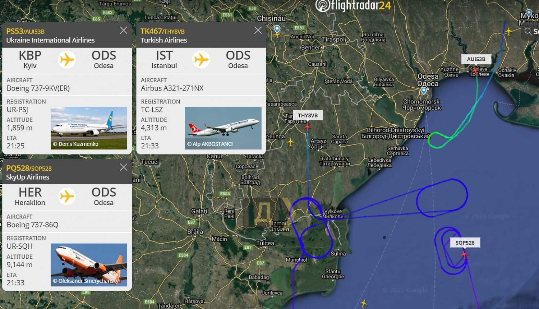 Літаки кружляли над Одесою