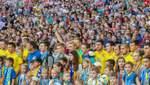 В Харькове перед футбольным поединком прошел фан-марш болельщиков
