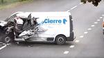 Головокружительная авария с неожиданным финалом: видео