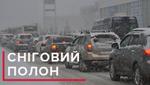 Пробки в Киеве: город парализовало после первого снега – карта