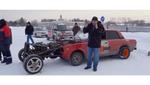 ВАЗ з трьома двигунами і трьома осями –чудовисько з металобрухту (відео)