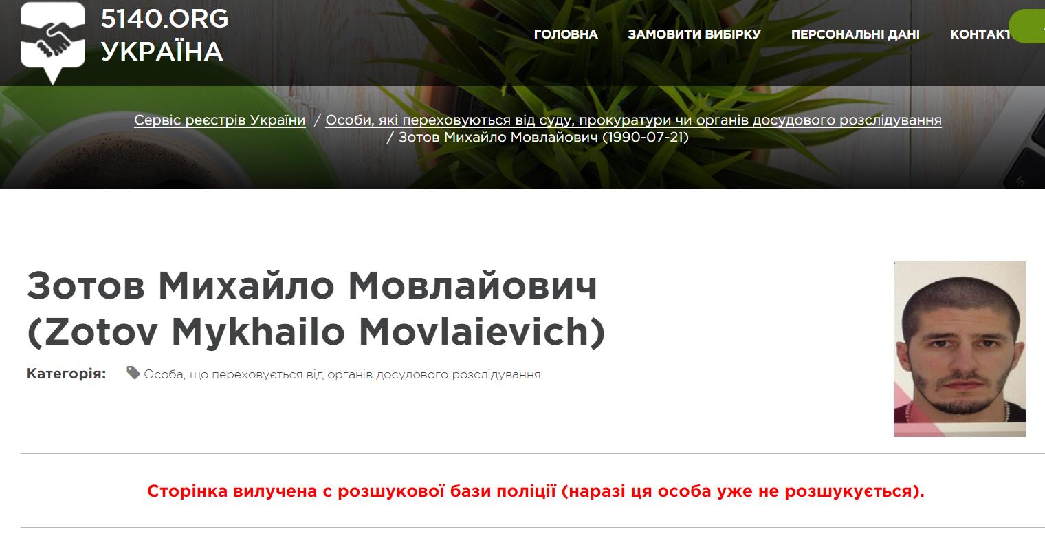 Зотов, убийство Бахвалова, Киев, Гидропарк