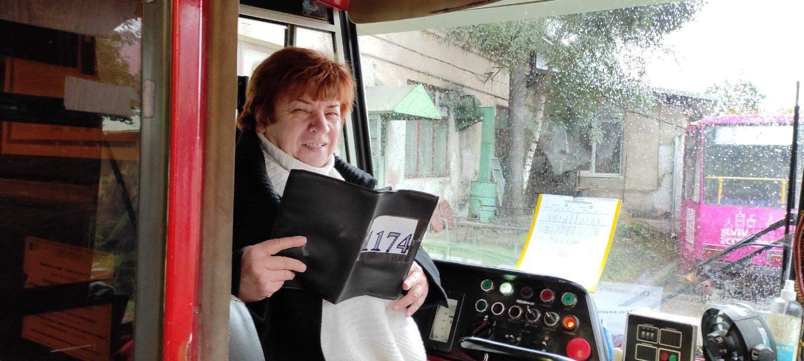 Лідія Філіпчук - водійка трамвая