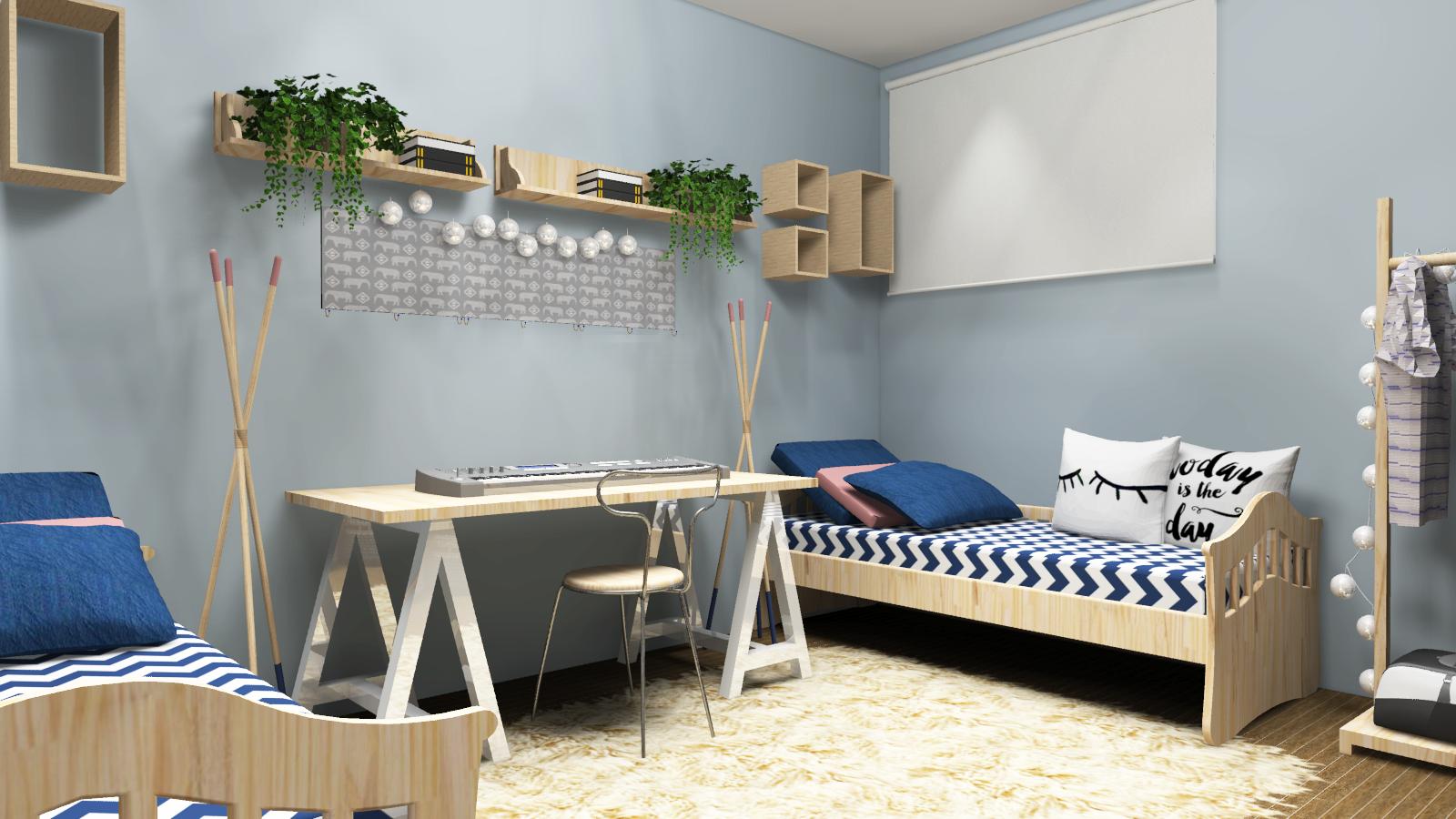 Інтер'єр кімнати в скандинавському стилі