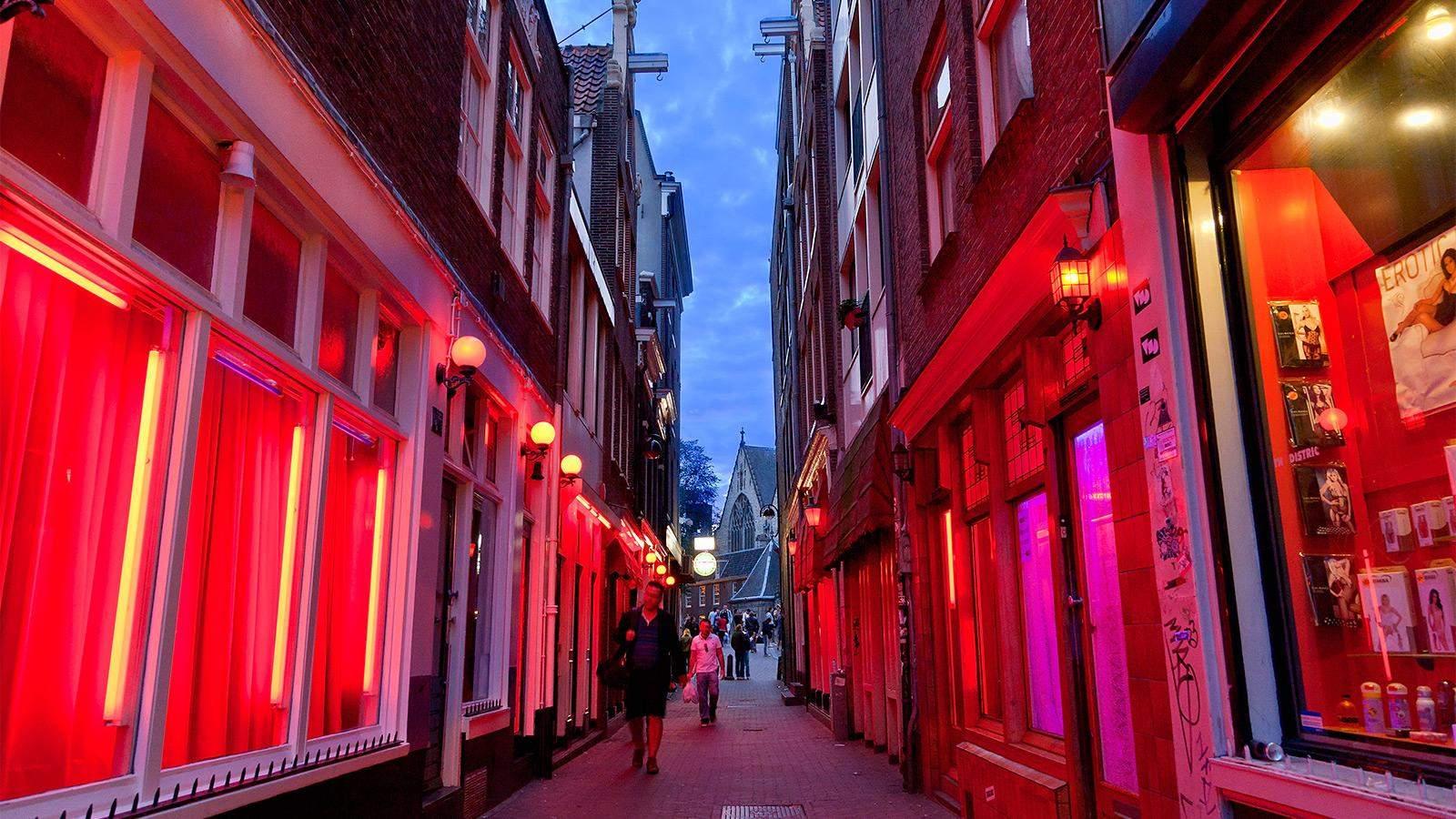 квартал червоних ліхтарів амстердам