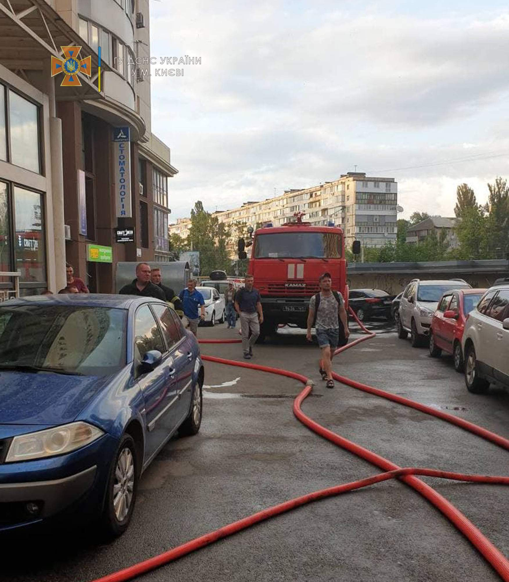 Пожежа супермаркету у Києві