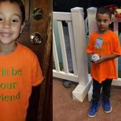 """""""Я буду твоим другом"""": мальчик пришел в школу в футболке с доброжелательной надписью"""