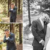 Наречені вперше бачать своїх майбутніх дружин у весільних сукнях: зворушливі реакції у фото
