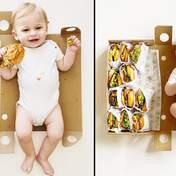 Мама зафиксировала первый год сына на фото с бургерами: невероятная идея в фото