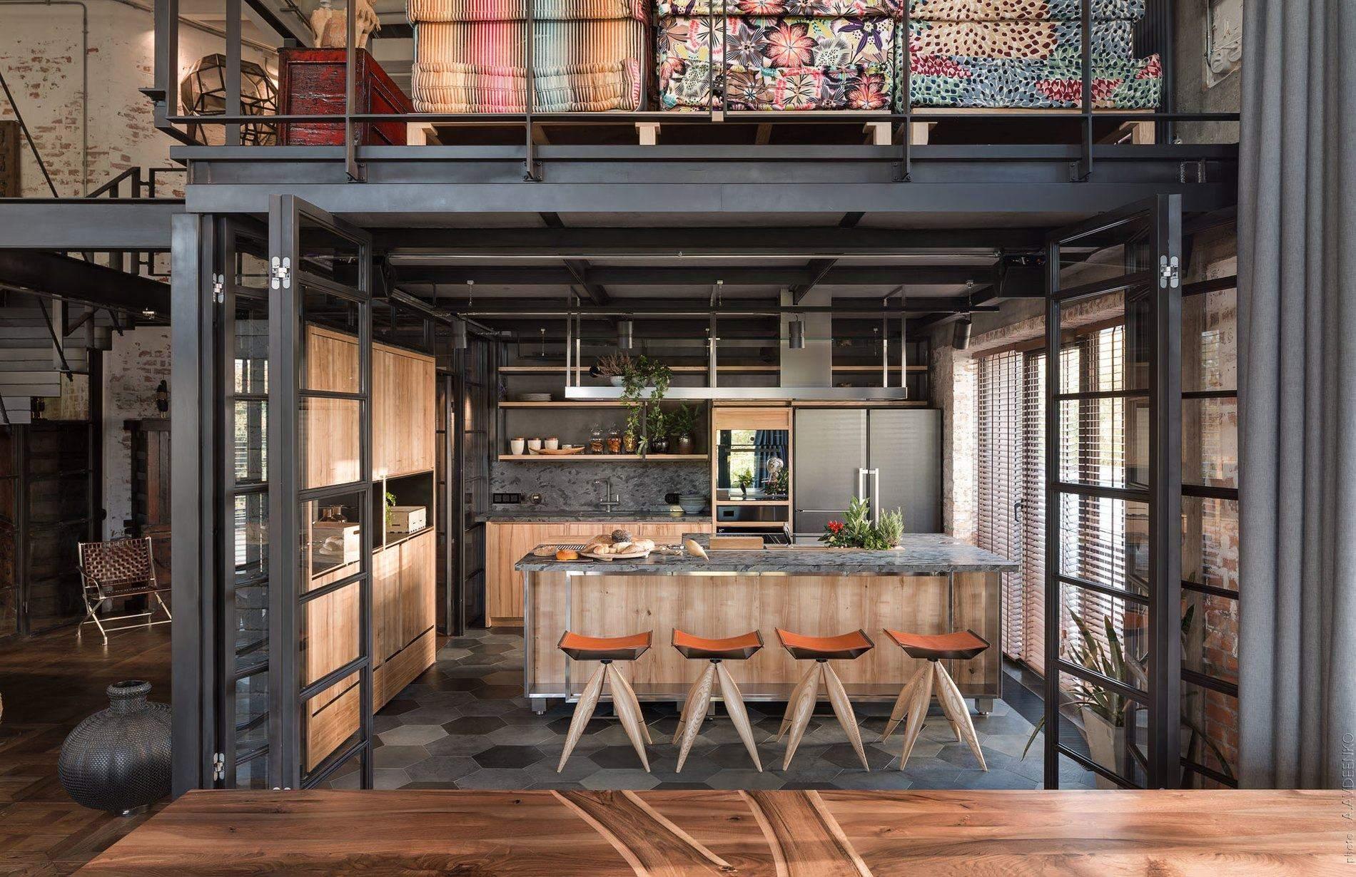 Зона кухні нагадує інтер'єр ресторану