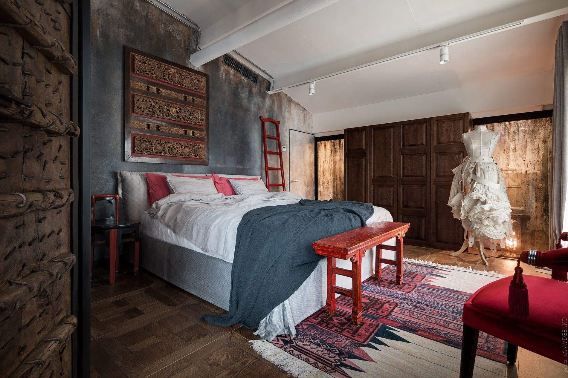 спальня у стилі лофт