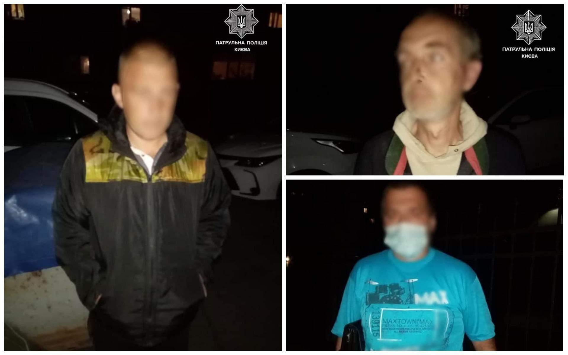 Київ Крали плитку Троє чоловіків Поліція 20 вересня 2021