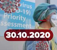 Новини про коронавірус 30 жовтня: рекорд хворих та жертв в Україні, знайшли ще одну вакцину