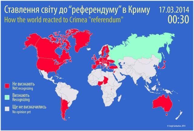 Десятки стран мира не признали референдум в Крыму [Инфографика]