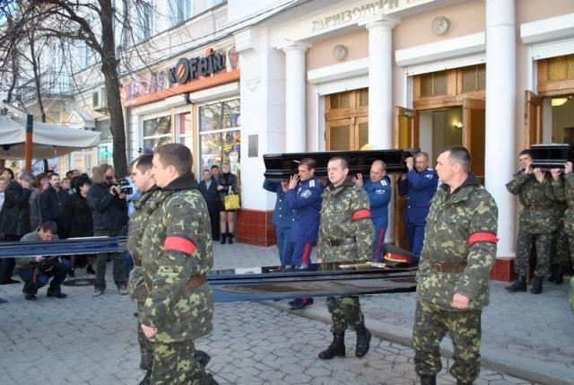 В Симферополе похоронили погибшего от рук оккупантов прапорщика Кокурина [Фото]