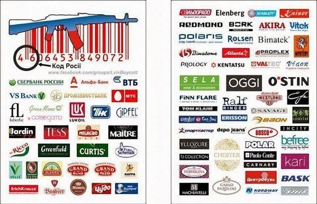В интернете призывают бойкотировать российские товары [Фото]