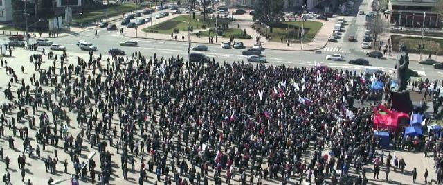 На сепаратистский митинг в Донецке вышло около тысячи человек [Фото]