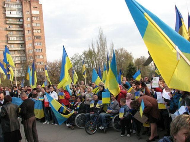 В Краматорске прошел митинг за единство Украины [Фото. Видео]