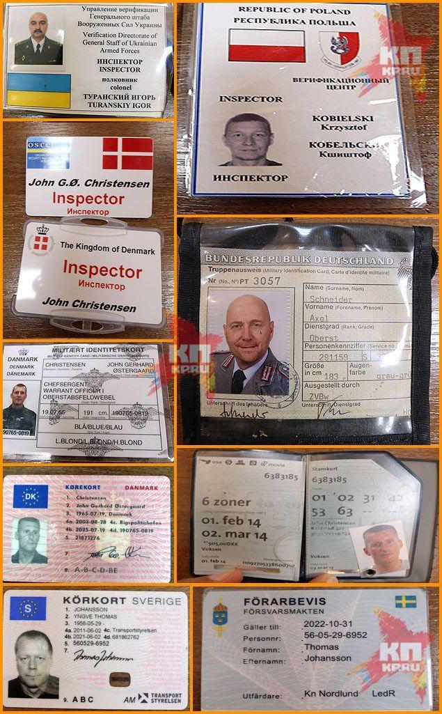 Сепаратисты показали документы заложников от ОБСЕ, говорить будут только с Россией [Фото]