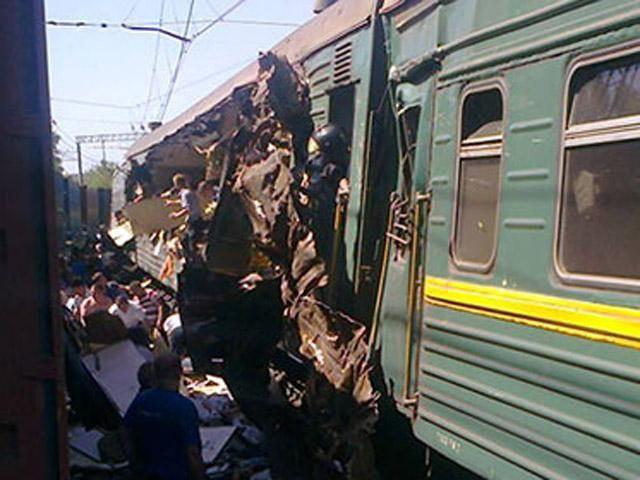 В подмосковье столкнулись грузовой и пассажирский поезда есть жертвы давно уже