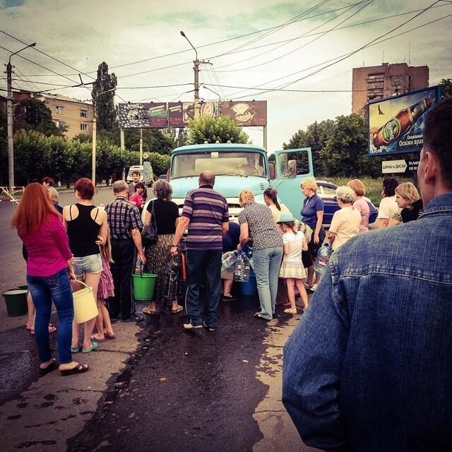 ФОТО ДНЯ: Краматорск 4 дня без воды