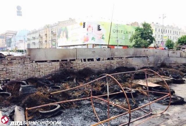 Баррикады после пожара [Фото]