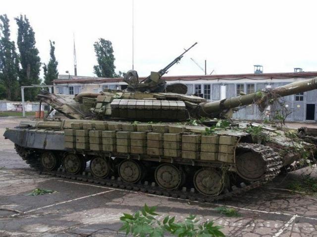 Захваченный у террористов танк прибыл на территорию Украины из России, — Минобороны [Фото]