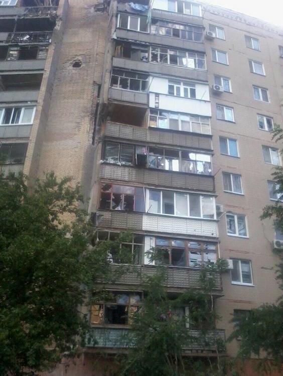 Фото дня: обстрелянный Славянск