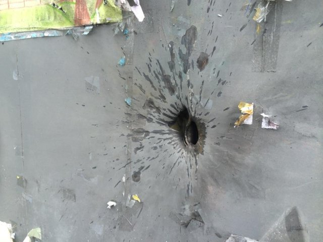 Украинские военные отбили обстрел блокпоста под Славянском [Фото]