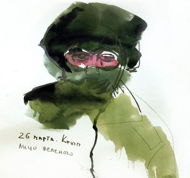Художница из Крыма создала рисованную историю захвата полуострова [Фото,Відео]