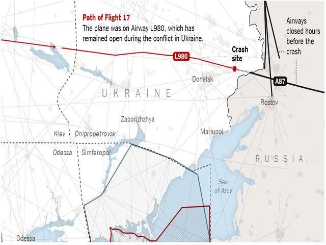 Перед сбитием малазийского самолета, Россия закрыла свои воздушные пути, – СМИ
