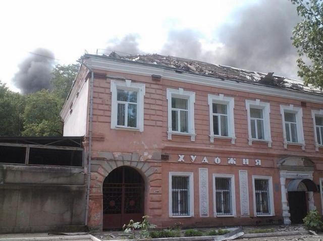 В Луганске горят здания в центре города, — СМИ [Фото. Видео]