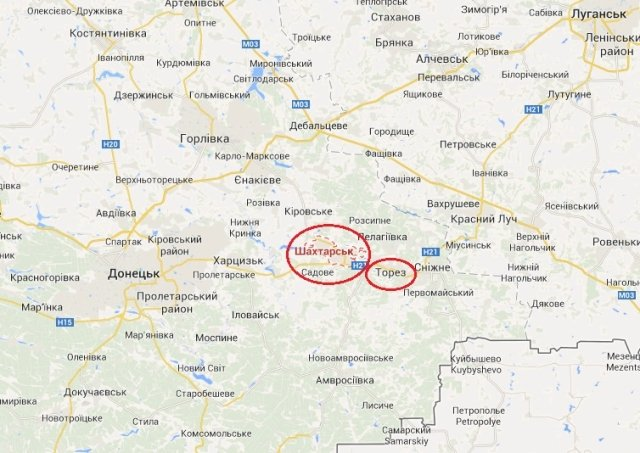 Силы АТО вошли в Шахтерск и Торез, продолжаются бои, — журналист
