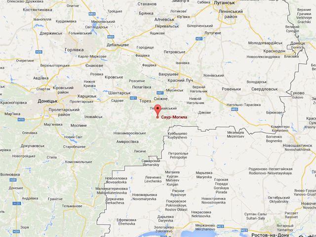Вооруженные силы Украины взяли Саур-могилу [Карта]