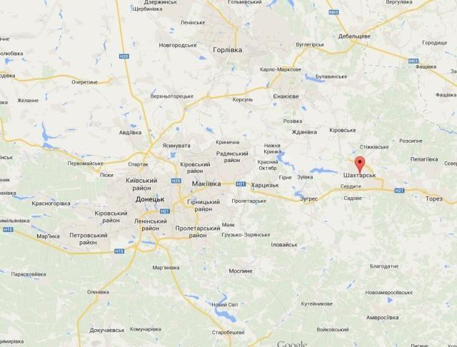В Шахтерске боевики обстреляли украинских десантников с