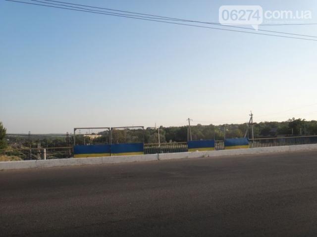 В Артемовске разрисовали мосты в желто-голубые цвета [Фото]