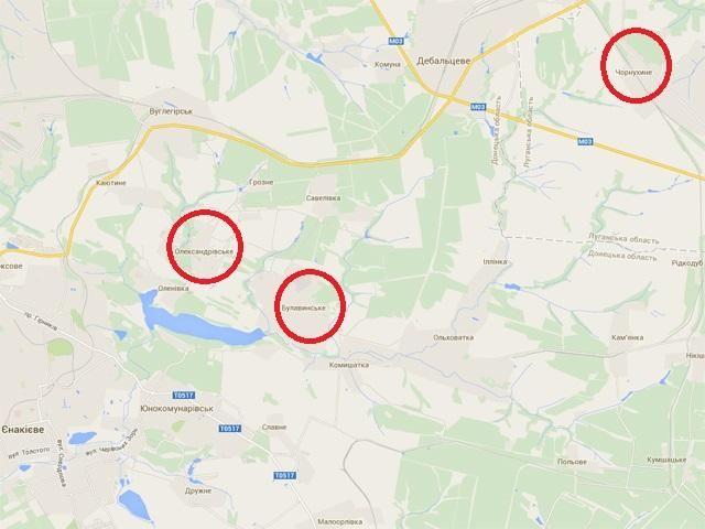 Силы АТО освободили Булавинское, Чернухино и Александровское [Видео. Карта]