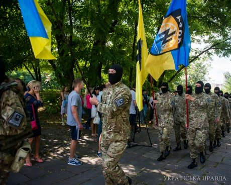 В Киеве новобранцы