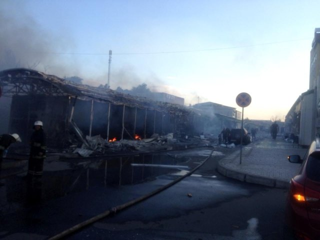 В Донецке горит вокзал [Фото]