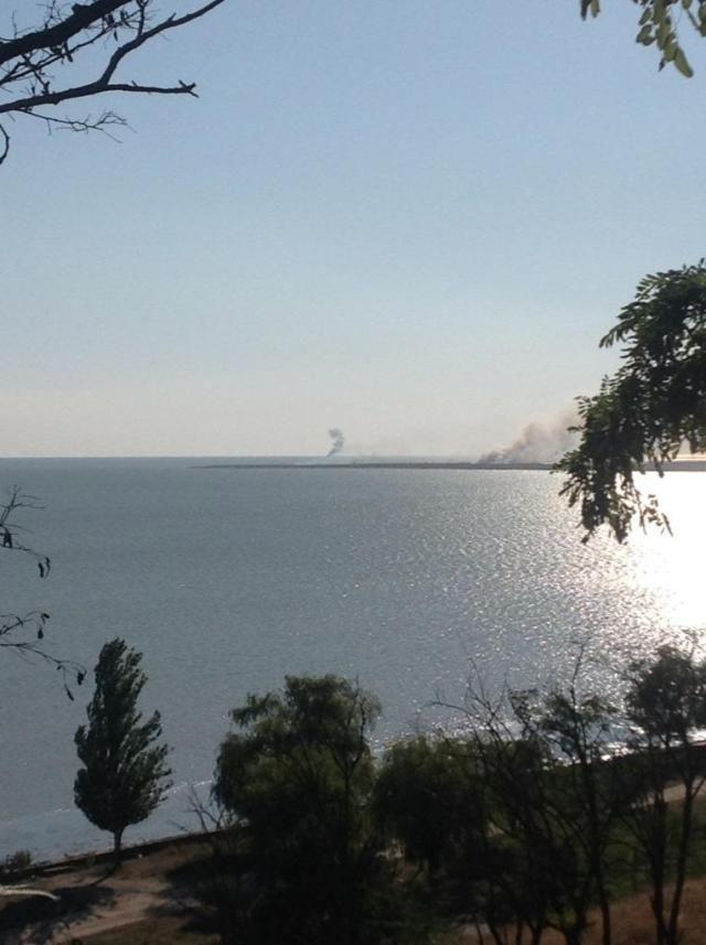 Возле Мариуполя подбили катер береговой охраны
